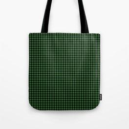 Mini Black and Dark Green Cowboy Buffalo Check Tote Bag