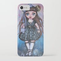 magical girl iPhone & iPod Cases featuring Kawaii Magical Girl painting by c-lbi