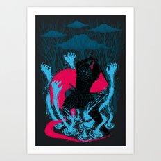 Versus Samurai Art Print