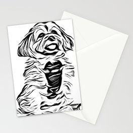 Copper the Havapookie Sketch Stationery Cards