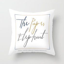 The Paper Elephant Throw Pillow