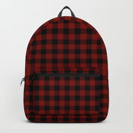 Vintage New England Shaker Barn Red Buffalo Check Plaid Backpack