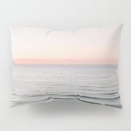 Endless ocean | Ericeira beach photography print Portugal | Wanderlust sea wall art Pillow Sham