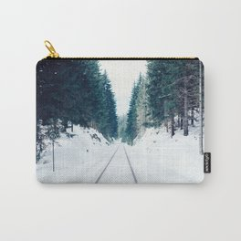 Snow Covered Railway Carry-All Pouch