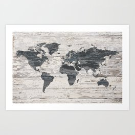 World map art prints society6 world map 2 art print gumiabroncs Image collections