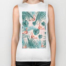 Tropical Flamingo Pattern #3 #tropical #decor #art #society6 Biker Tank