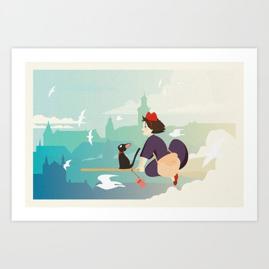 Delivery Service Art Print