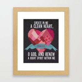 Psalm 51 Framed Art Print