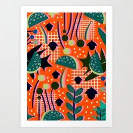 When autumn turns to winter Art Print