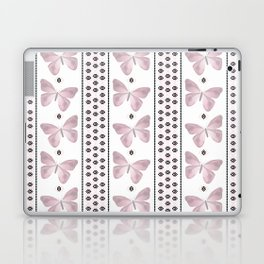 Delicate butterfly on a white background with delicate stripes. Laptop & iPad Skin