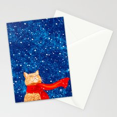Tabby loves Snow... Stationery Cards