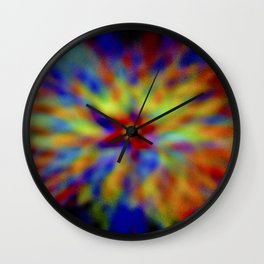 Frosted vitrum post tergum color ratesque Wall Clock