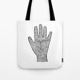 Aries Hand / Hamsa Tote Bag