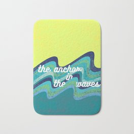 Anchor In The Waves Bath Mat