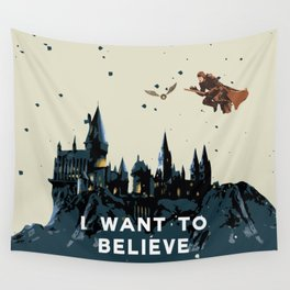 I Want To Believe - Hogwarts Wall Tapestry