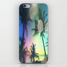 Summer Dreams : Pastel Palm Trees iPhone Skin