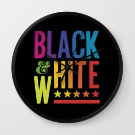 Colorful Black and White Wall Clock