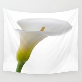 Calla On White Wall Tapestry