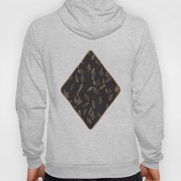 Abstract Gold and Black Musical Fall Leaves Hoody
