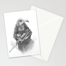 Hooded Vulture with Uilleann Pipes by Pia Tham Stationery Cards