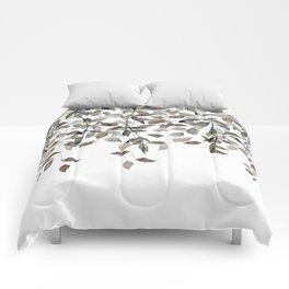 Leaf Cascade Linen Texture Neutral Comforters