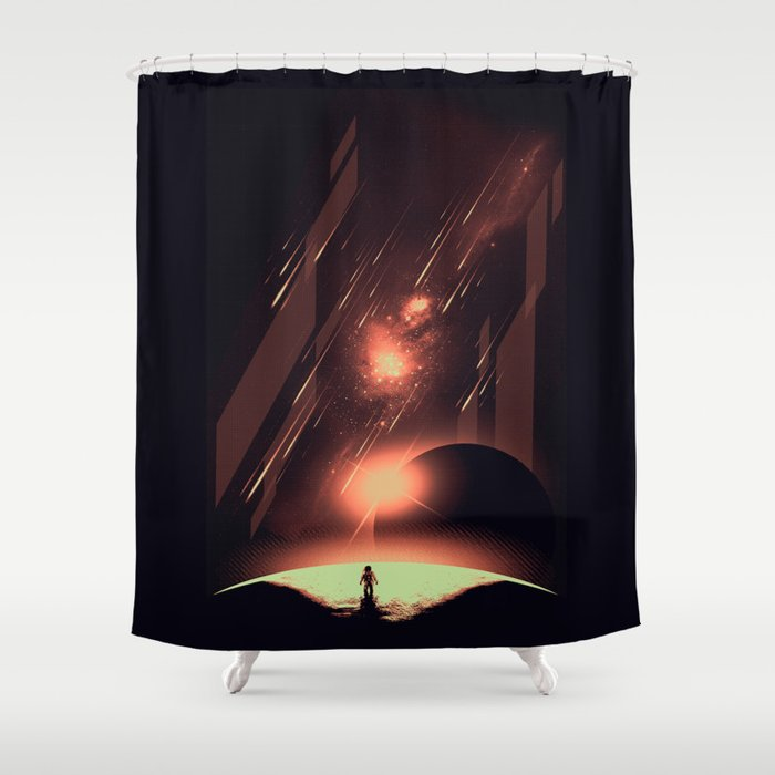 Intergalactic Travel Shower Curtain