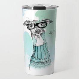 Funny Greyhound Travel Mug