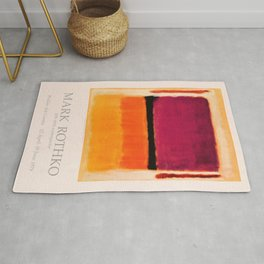 Mark Rothko Exhibition poster 1979 Rug
