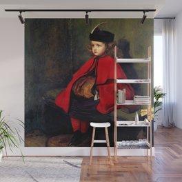 """John Everett Millais """"My First Sermon"""" Wall Mural"""