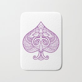 Purple Ace of Spades Asexual Pride print Bath Mat