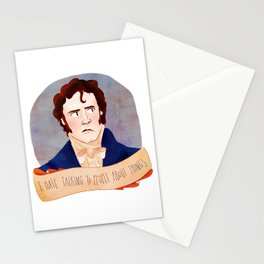 Mr. Darcy / I HATE TALKING TO PEOPLE ABOUT THINGS Stationery Cards