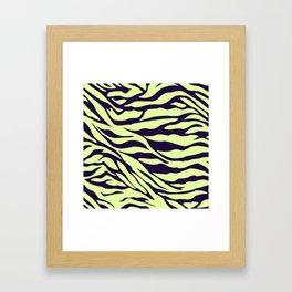 green zebra Framed Art Print