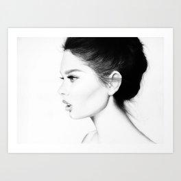 Belle femme Art Print