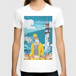 Sailorman and lighthouse T-shirt