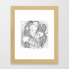 A bad place for love Framed Art Print