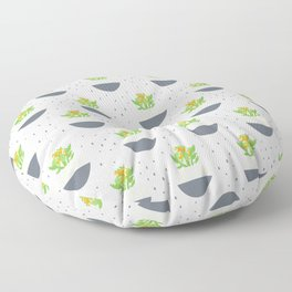 Potted Kalanchoe Plant Mom Pattern Floor Pillow