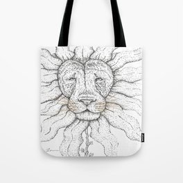 Flower Lion Tote Bag