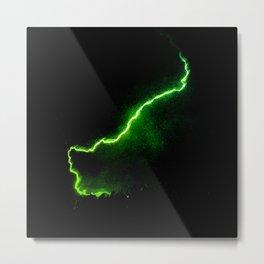 Chartreuse Lightning Metal Print