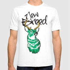 New Breed SMALL White Mens Fitted Tee