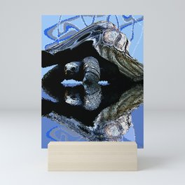 Blue Turtle Mini Art Print