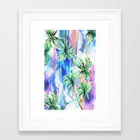 palm trees Framed Art Prints featuring Palm trees by Nikkistrange