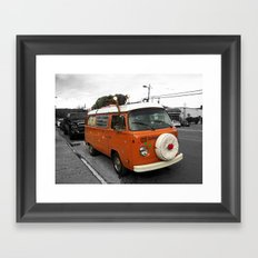 The Holiday Bus Framed Art Print