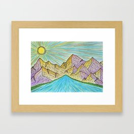Purple Hills Framed Art Print
