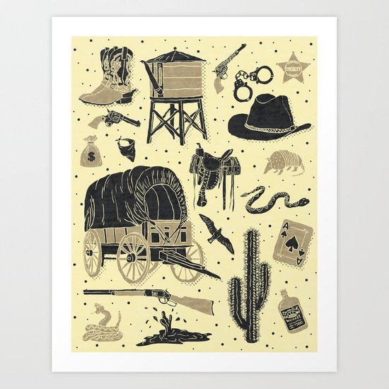 Mild West Art Print