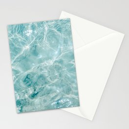 Clear blue water | Colorful ocean photography print | Turquoise sea Stationery Cards