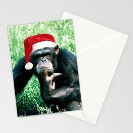 Bah Humbug Chimp Stationery Cards