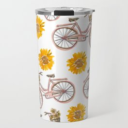 Sunflowers and Bikes! Travel Mug
