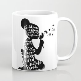 Children have never been very good at listening to their elders, but they have never failed to imita Coffee Mug