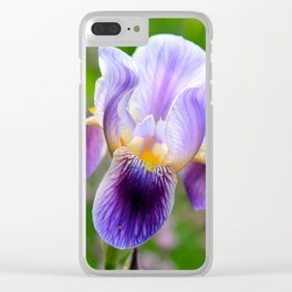 Iris Aglow Clear iPhone Case