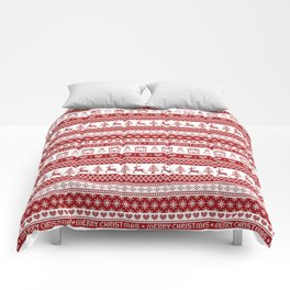 Nordic fair isle Christmas pattern Comforters